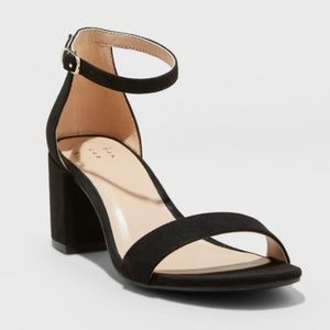 A New Day Black Block Heels 5
